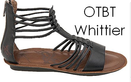 af2a32e42b45 OTBT Whittier  The Whittier sandal has a trendy back zipper for those of  you that hate buckles. Great for those of you that don t need tons of arch  support