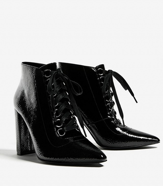 Zara Lace-Up High Heel Ankle Boots