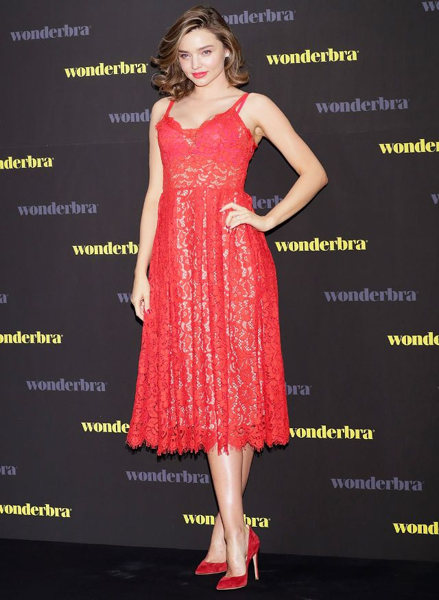 On Miranda Kerr: H&M Lace Dress ($75).