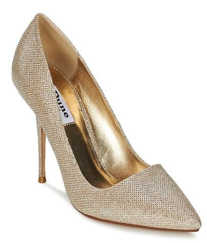 Dune 'bella' gold court shoes