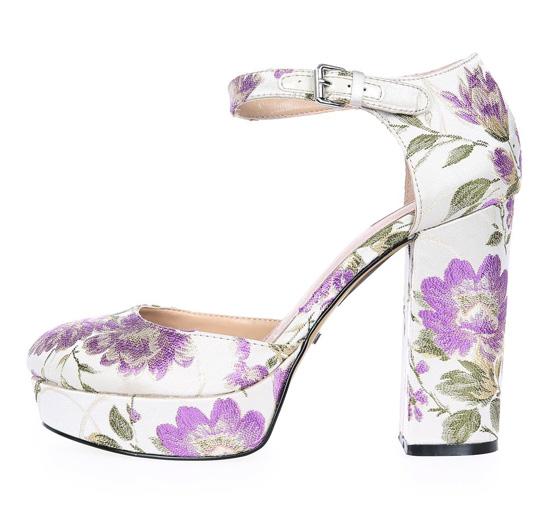 floral platform shoes