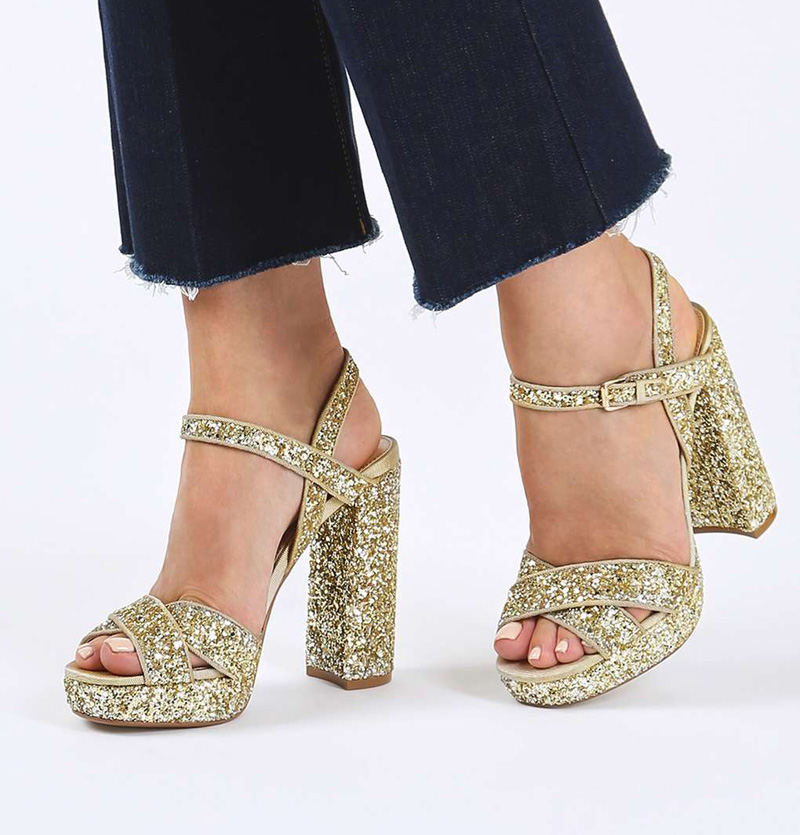 Topshop 'Major' glitter sandals