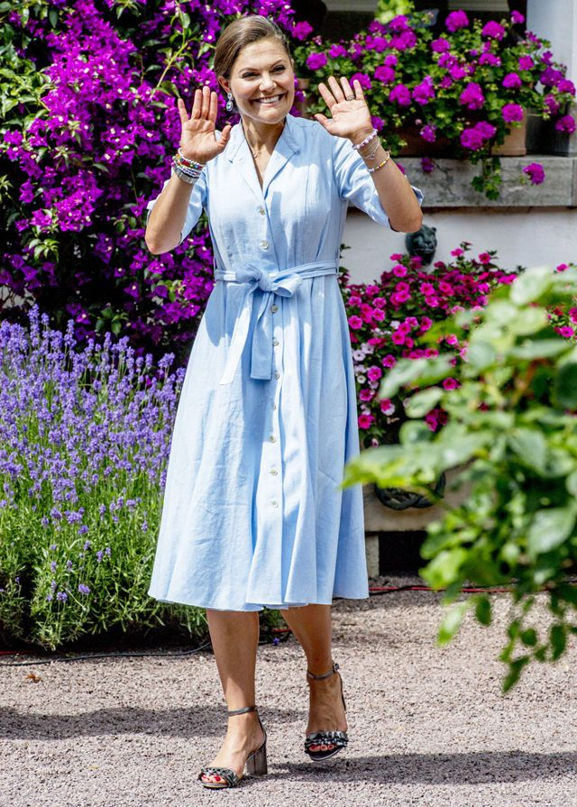 Princess Victoria of Sweden birthday outfit—H&M sandals
